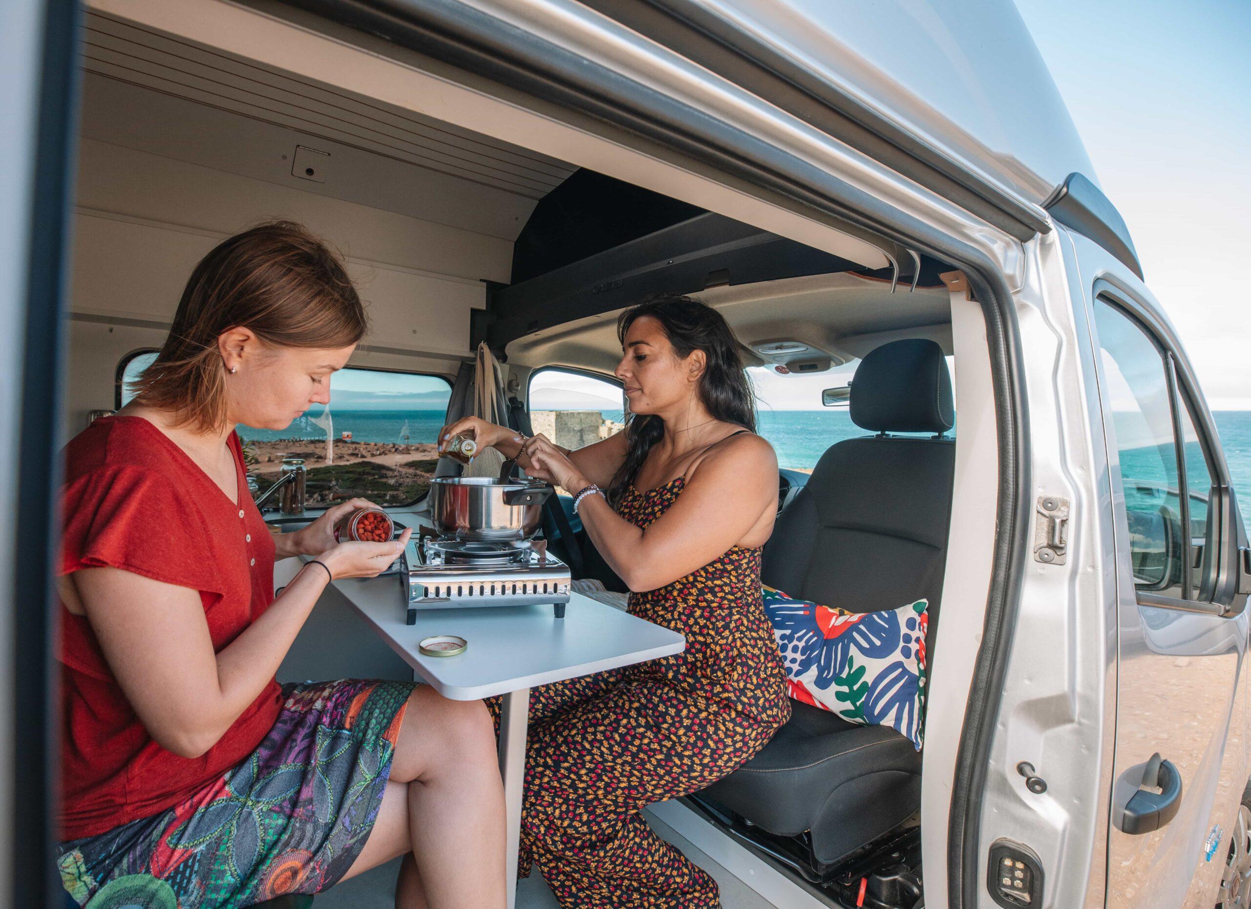 cozinhar numa autocaravana